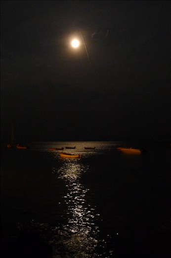 Full Moon over the water - so beautiful - Bol
