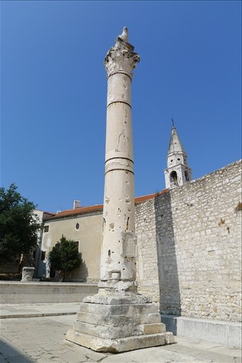Tower of Shame in Zadar - I had to take pic