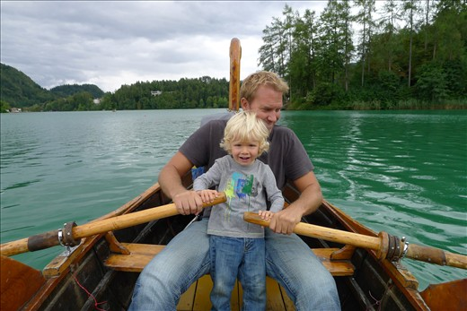 Rowing on Bled Lake