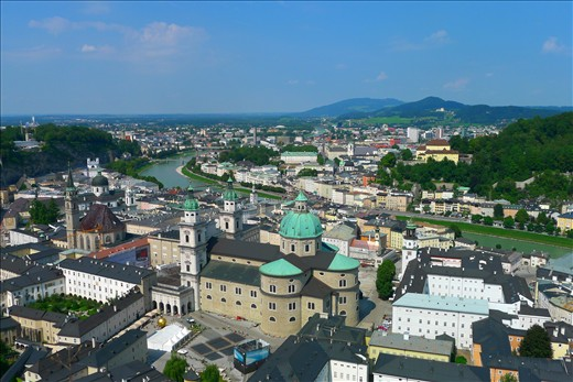 Salzburg from the hilltop Fortress