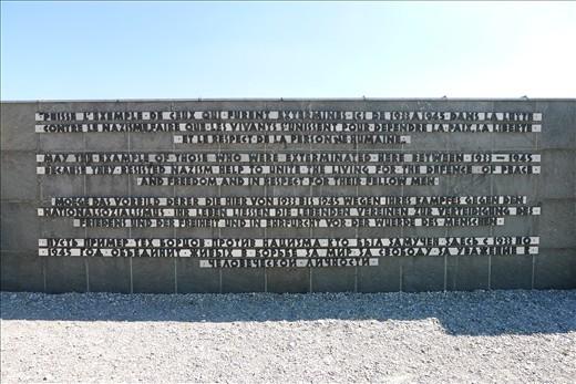 Tribute wall in Dachau