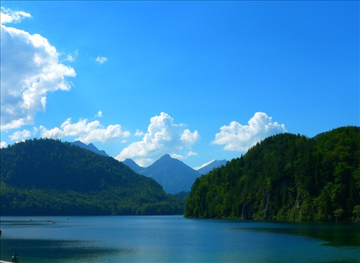 Beautiful Lake with alps - Germany
