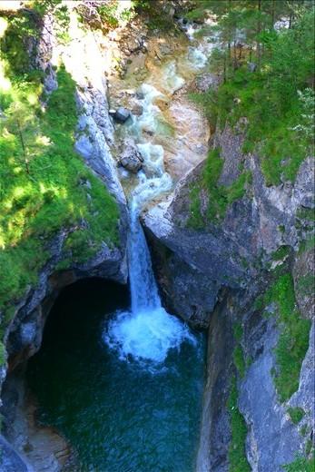 Incredible waterfall behind Castle
