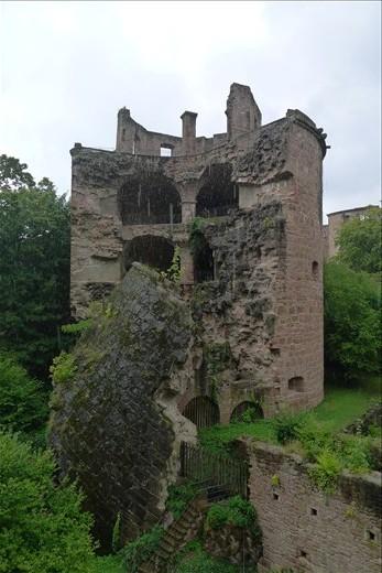 Heidelberg Castle's destroyed touret