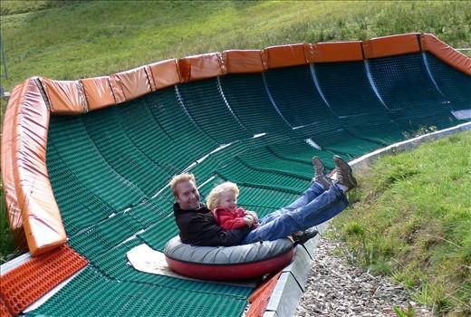 HUGE inner tube slide on Pilatus - Don't look Grandmas