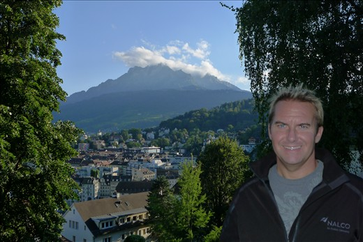 View of Mt Pilatus from Lucerne