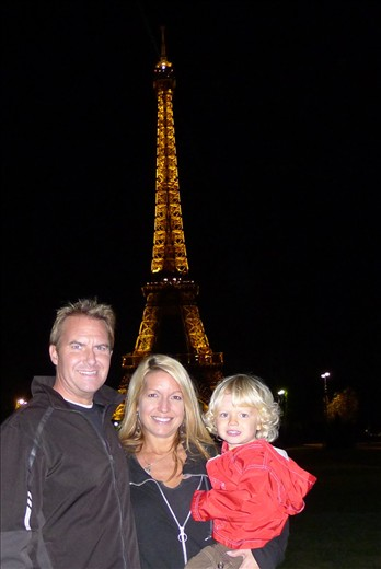 First night in front of Eiffel Tower