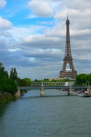 The Eiffel Tower beyond the Seine