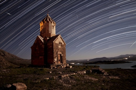 The Iranian church Dzordza (zorzor) in West Azerbaijan Province, close to Chaldoran city, were registered on the UNESCO's World Heritage List 2008. This monument made by saint Tadaus in the 14th century. Taken by canon 40D, Samyang 14mm lens. Combine of 800 shot,  exposure  30