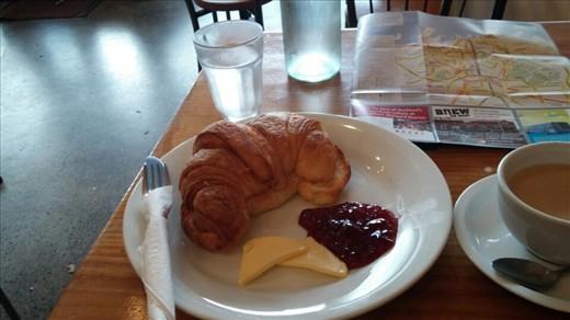 Giant croissant for breakfast.