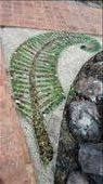 New Zealand's signature fern done in a mosaic.: by cfitchey, Views[205]