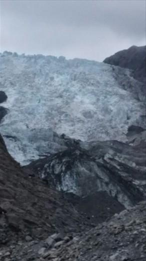 Close up of the glacier