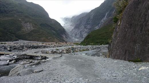 Last view of glacier valley
