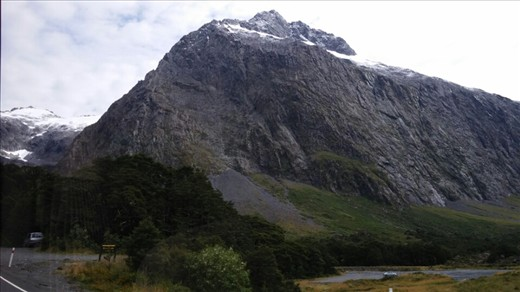 View of a rock face from the bus