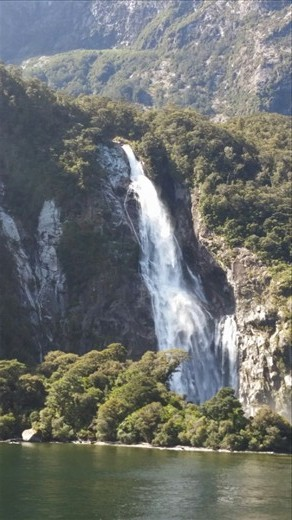 The tallest continuously flowing waterfall on the south island, I think.