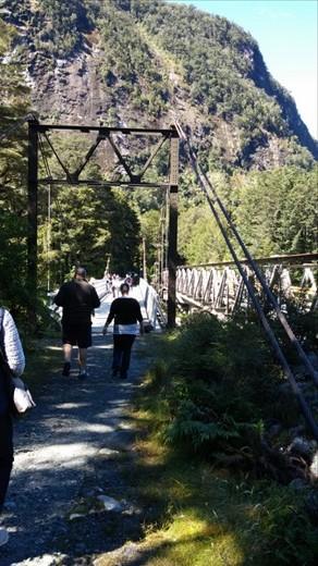 Bridge at a vista site.