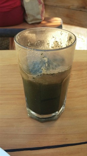 Green juice with chlorella - I don't know what it is, but it was mighty tasty