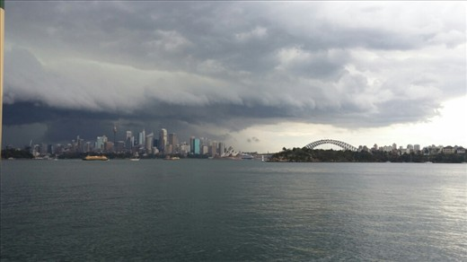 Sydney harbour - storms a coming