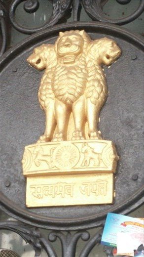 Lions were a traditional Indian symbol of power. The British coopted them and used them as their symbol of power in a lot of places.
