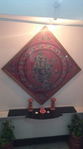 Nice art art my hotel of Ganesh, the Hindu God.