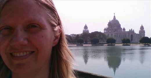 Me in front of Victoria memorial