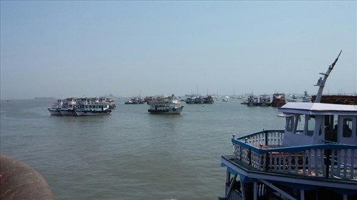 View of harbour from Gateway of India
