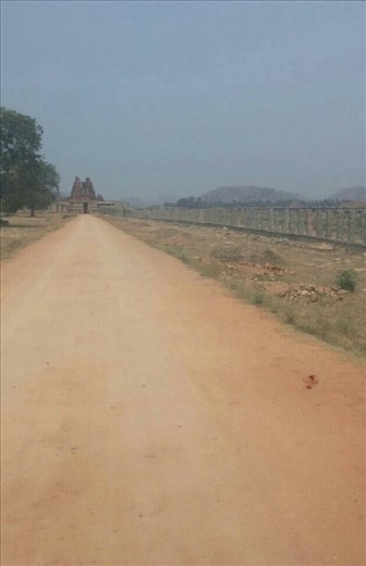 Road to the temple. This would be lined on both sides with a market place.