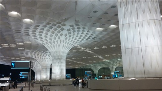 The mesmerizing Mumbai international airport terminal.