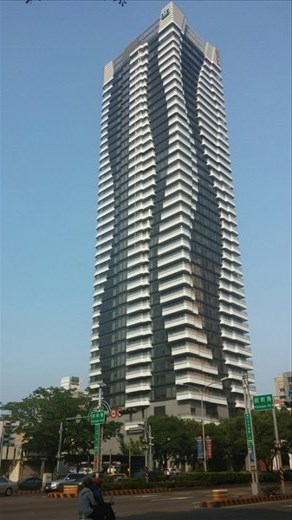 One of a handful of tall buildings in Taichung