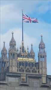 British flag flying on Westminster: by cfitchey, Views[107]