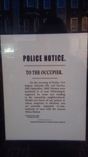 Sign outside the museum.