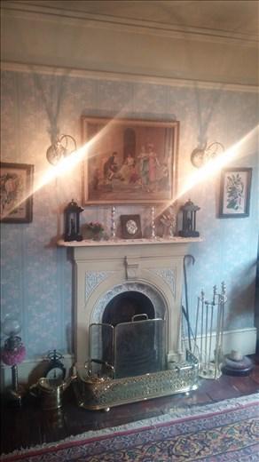 A fireplace in Sherlock's house.
