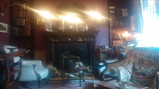 Sherlock's living room.