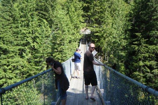 Shawn Crazy Creek Suspension Bridge and Waterfalls Just outside Revelstoke June 14th