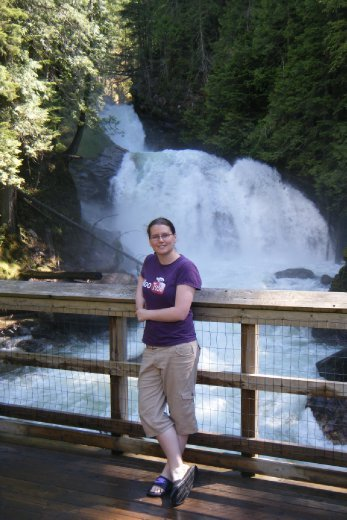 Crazy Creek Suspension Bridge and Waterfalls Just outside Revelstoke June 14th