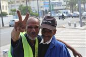 A parking guy and a cigarette seller enjoying the moment being in the third eye, Happy smile in both faces...I call it Happy poverty : by charif, Views[118]