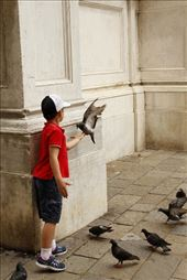 Boy with pigeons - Italy: by charlies_trips, Views[413]