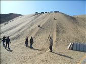 Day 2 (Afternoon): Sand sliding down the sandy slope in the desert, a real thrill for