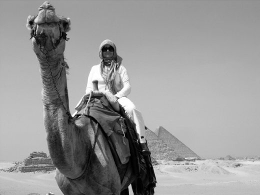The amazing pyramids by camel