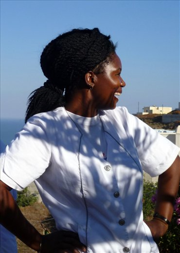 Isabel from Soweto who works at our hotel