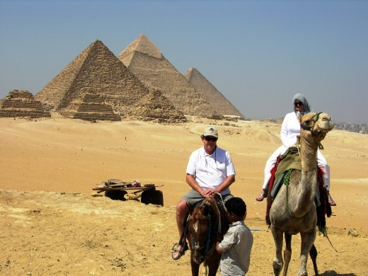 John and Cheryl at the pyramids