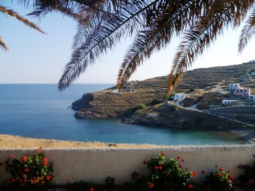 View from the villa on Syros