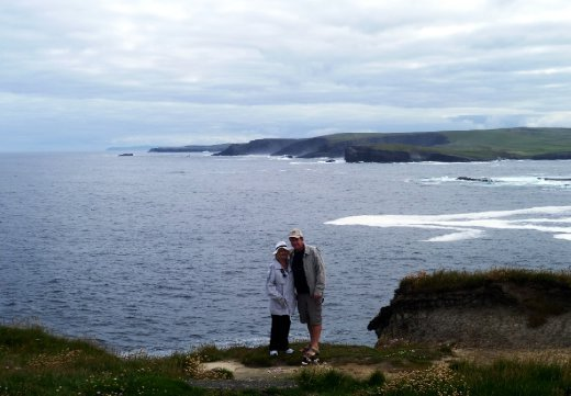 John and Cheryl walking in Ireland