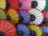 Vendor stall selling paper umbrellas.: by chicagoguy, Views[621]