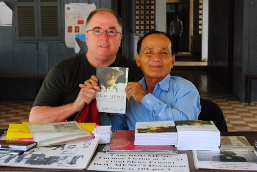 Bou Meng, the 2nd living survivor for S21 prison.  He was a painter and was commissioned to paint Pol Pot portrait while being a prisoner.