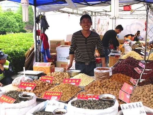 Lovely vendor at Wushan Square