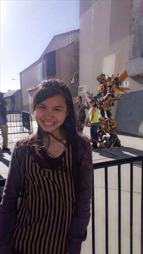 The only way I was going to be in the same photo as Bumblebee