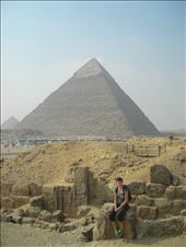 me and two of the pyramids....they are such huge amazing piles of rocks: by chloe, Views[238]