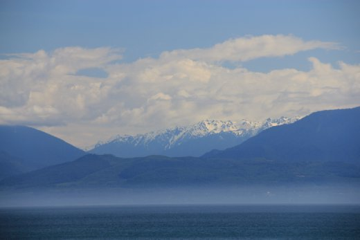 Olympic Mountains from East Sooke