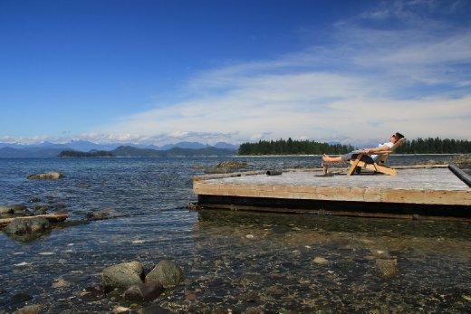 Pre trip: relaxing at Heriot bay, Quadra Island